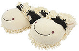 Aroma Home Fuzzy Friend Cow Slippers