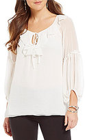 M.S.S.P. Ruffle Georgette Woven Blouse