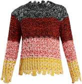 Sonia Rykiel Colour-block textured-knit sweater