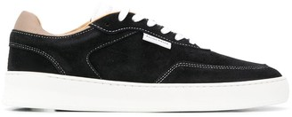 Filling Pieces Spate contrast-stitching suede sneakers