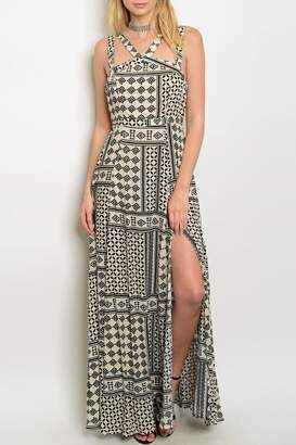 Shop The Trends Cream Maxi Dress