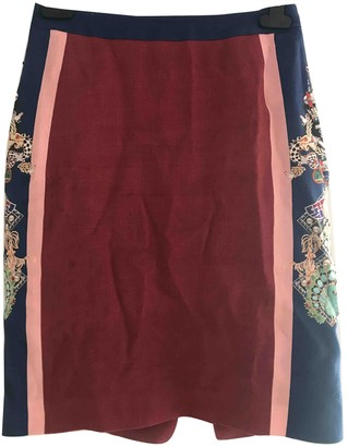 Mary Katrantzou Burgundy Cotton Skirt for Women