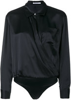Alexander Wang shirt-style bodysuit - women - Silk - 4