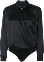 Alexander Wang shirt-style bodysuit - women - Silk - 4