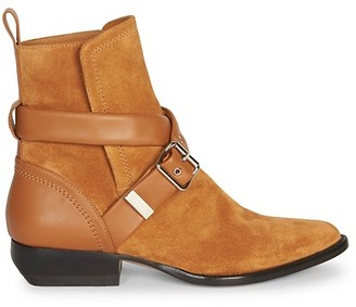 Chloé Rylee Buckle Suede Ankle Boots