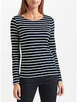 John Lewis Boat Neck Stripe Long Sleeve T-Shirt