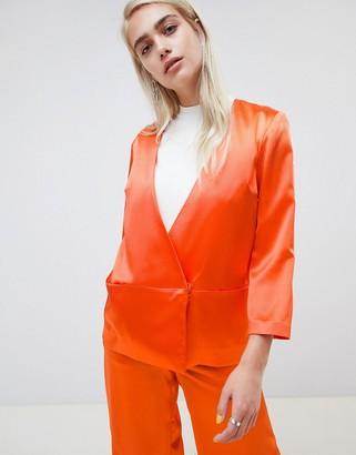 Moss Copenhagen Wrap Front Soft Blazer