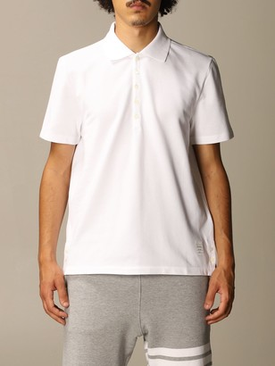 Thom Browne Polo Shirt Cotton Polo Shirt With Striped Bands