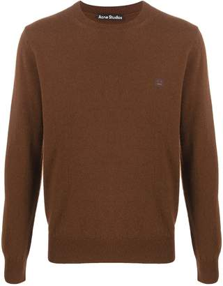 Acne Studios Face patch crew neck jumper