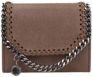Stella McCartney Falabella Wallet In Brown Faux Leather