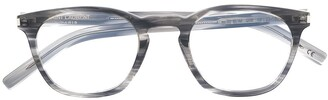 Saint Laurent Square-Frame Clear-Lens Glasses