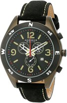 Akribos XXIV Men's AK582OL Conqueror Swiss Quartz Chronograph Leather Strap Watch