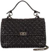 Valentino Garavani Rockstud Spike Large Chain Bag, Black