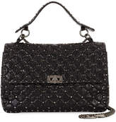Valentino Rockstud Spike Large Chain Bag, Black
