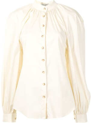ANNA QUAN Amina puff-sleeve poplin shirt