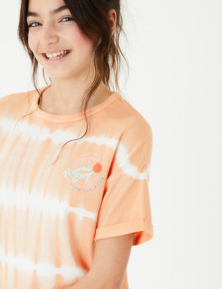 Marks and Spencer Pure Cotton Tie Dye T-Shirt (6-16 Yrs)