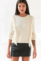 Ecote Fringe Trim Pullover Sweater