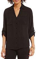 I.N. San Francisco Roll-Tab 3/4-Sleeve Button-Front Shirt