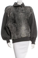 Valentino Broadtail Shawl Collar Sweater