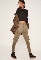 Missguided Khaki Side Pocket Cuffed Joggers
