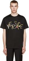 Versace Black Belt Logo T-Shirt