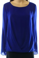Vince Camuto Womens Bell Cuffs Hi-Low Blouse
