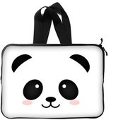 """Fashionable Style Cute Panda Face Theme Pattern Macbook, Macbook Air/Pro 15 Inch All 15"""" Laptop Notebook Computer Carrying Case Sleeve (two sides) with Strap or Handle"""