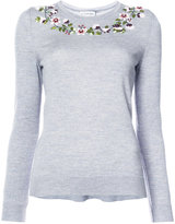 Altuzarra floral embellished sweater - women - Wool/Merino - S