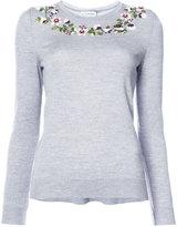 Altuzarra floral embellished sweater