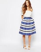 Paul & Joe Paul and Joe Sister Croisette Blue Stripe Full Midi Skirt