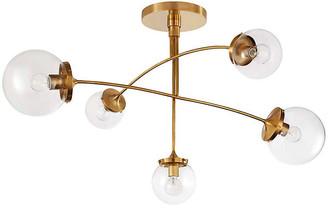 Kate Spade Prescott Medium Mobile Chandelier - Brass/Clear