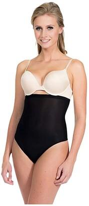 Magic Body Fashion MAGIC Bodyfashion Light Comfy Shaping Hi-Waist Thong (Black) Women's Underwear