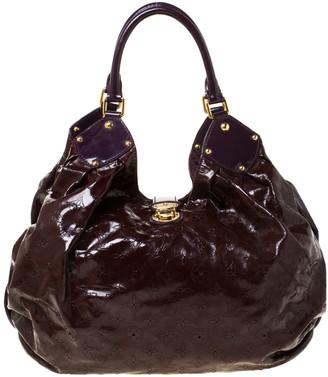 Louis Vuitton Metallic Mordore Monogram Mahina Patent Leather L Bag