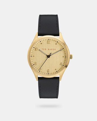 Ted Baker MANHAAD Pebble grain leather strap watch