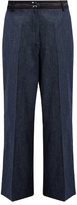 Elizabeth and James Hudson wide-leg cropped cotton-blend trousers