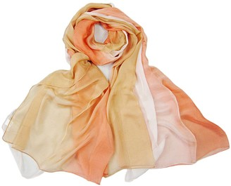 Lovesilk Scarves LoveSilk Women's 100% Silk Chiffon Scarf Shawl Oblong Royal Rainbow