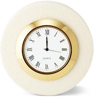 AERIN Shagreen Desk Clock - Cream