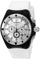 Technomarine Women's Quartz Watch with Silver Dial Chronograph Display and White Silicone Strap TM-115239