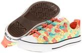 Converse Chuck Taylor All Star Loop-2-Knot (Little Kid/Big Kid) (Limelight/Florida Keys/Fusion Coral) - Footwear