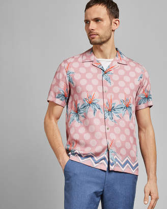 Ted Baker DAVIID Short sleeve printed cotton shirt