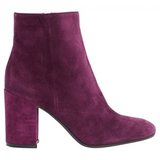 Gianvito Rossi Purple Suede Ankle boots