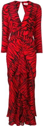 Rixo Rose V-neck dress