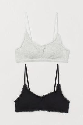 H&M 2-Pack Soft Cotton Bras