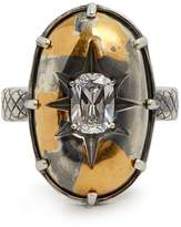 Bottega Veneta Stellular cubic-zirconia ring
