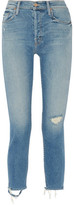 Mother The Cheeky Distressed High-Rise Slim-Leg Jeans