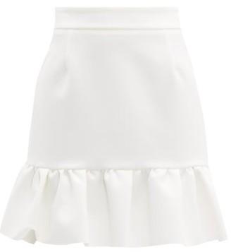 MSGM Ruffled-hem Crepe Mini Skirt - White