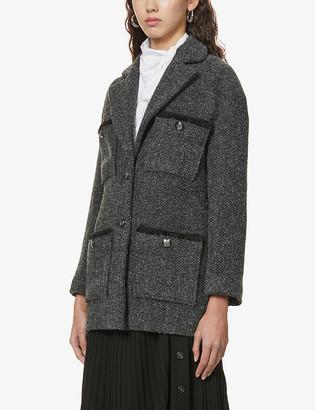 Maje Guiliane patch-pocket wool-blend jacket