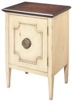 Progressive Morgan End Table Chairside Chest - Ivory/Tobacco Furniture