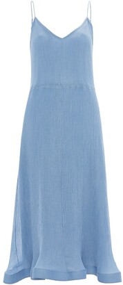 J.W.Anderson trumpet-hem pleated slip dress