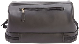 Royce Leather Royce New York Leather Toiletry Bag with BottomCompartment